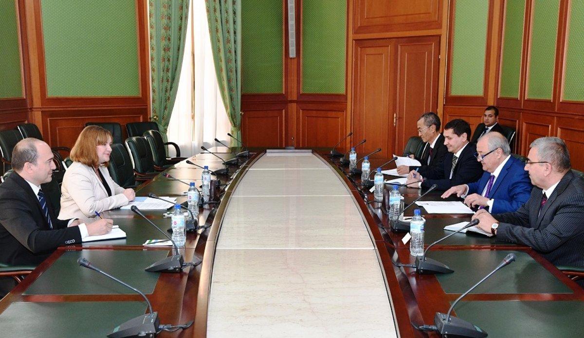 SRSG Natalia Gherman with Uzbek Foreign Minister Abdulaziz Kamilov