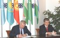 Signing of Memorandum of Understanding between the United Nations and International Fund for Saving Aral Sea
