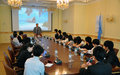 UNRCCA delivers presentation to Japanese students
