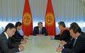 SRSG visits Bishkek