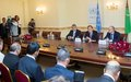 UN Secretary-General Ban Ki-Moon holds a Press Conference at UNRCCA