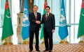 The Secretary-General's Remarks to Press with President of Turkmenistan