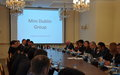 UNRCCA HOSTS 6th MINI-DUBLIN GROUP MEETING