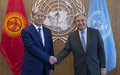 Readout of the Secretary-General's meeting with H.E. Mr. Almazbek Atambaev, President of the Kyrgyz Republic