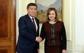 SPECIAL REPRESENTATIVE OF THE UN SECRETARY-GENERAL FOR CENTRAL ASIA, HEAD OF UNRCCA Natalia Gherman visits Kyrgyzstan