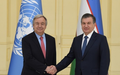Readout of the Secretary-General's meeting with  H.E. Mr. Shavkat Mirziyoyev, President of the Republic of Uzbekistan
