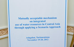 "Seminar ""Mutually acceptable mechanism on integrated use of water resources in Central Asia"", Ashgabat, 19-20 November 2012"