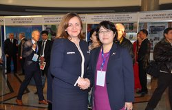 SRSG Gherman with D.Kemelova, Kyrgyz First Deputy Foreign Minister