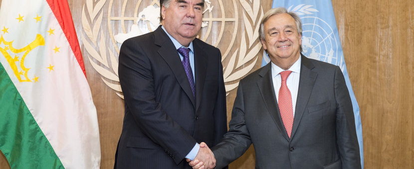 President of the Republic of Tajikistan, Emomali Rahmon, and Secretary-Genera